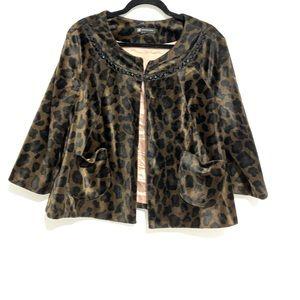 INC - Leopard Print Coat